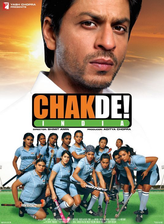 Shahrukh Khan - Chak De! India (2007) Source: blogspot.in