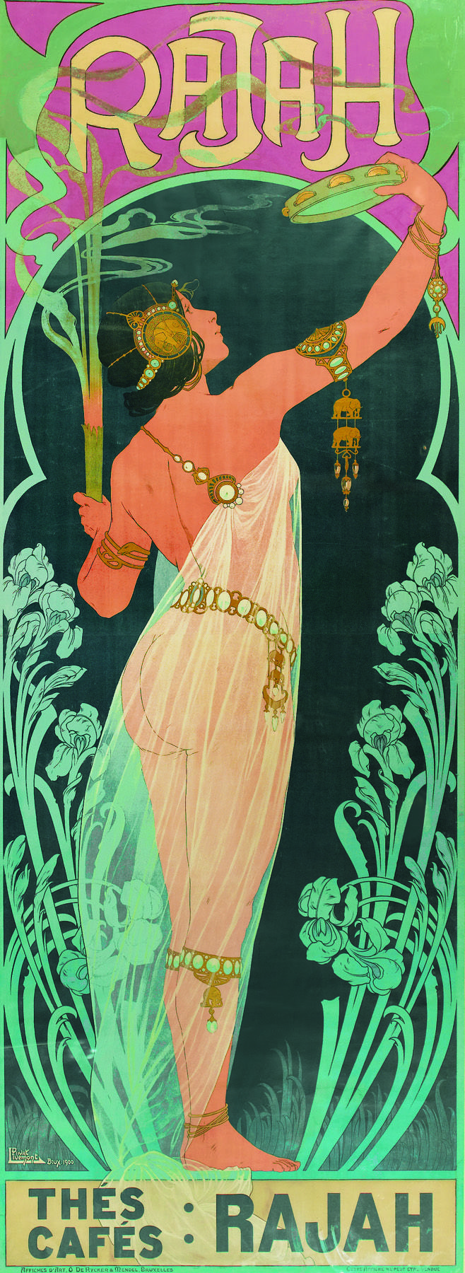 Poster design 1900 - Swann Auction Galleries The Mysterious Tall Rajah Poster Henri Privat Livemont S Rajah Is Extremely Scarce Only One Reference To The Poster Has Been