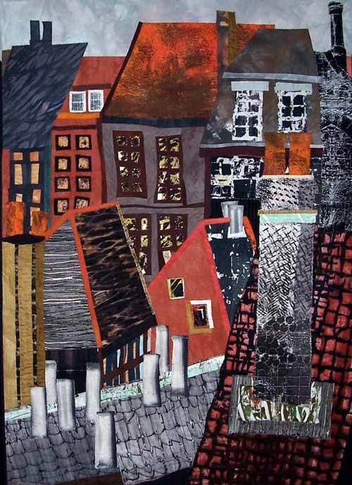 """quilting & fiber arts from fiberartworkshops... """"Find a city... find my self a city to live in"""""""