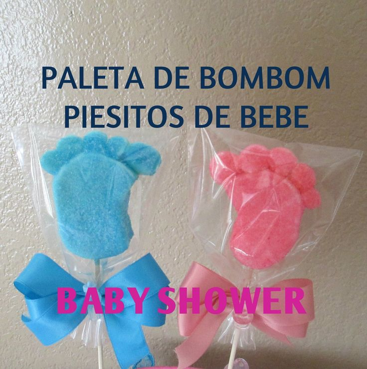 Paleta De Bombon Piesitos De Bebe/Baby Shower/Tutorial