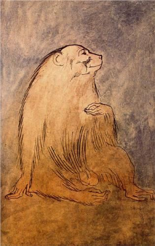 Seated monkey, 1905 - Pablo Picasso (1881-1973)