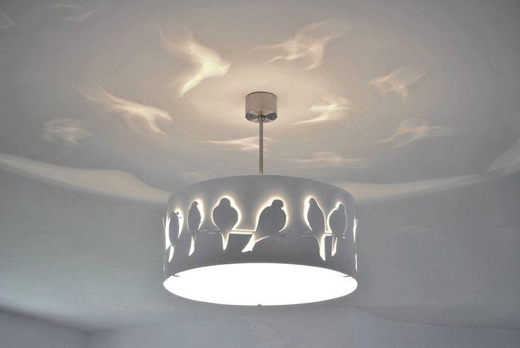 Pendant Lighting – Modern Lamp, ceiling light WHITE BIRDS – a unique product by Archerlamps on DaWanda