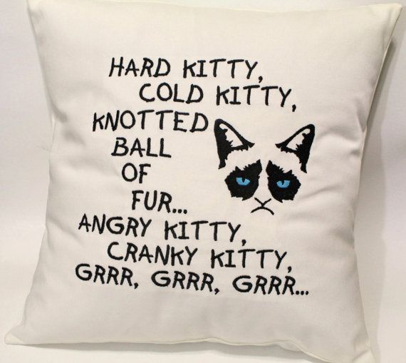 Grumpy Kitty Song inspired by Big Bang Theory Soft by tadaboutique, $35.00