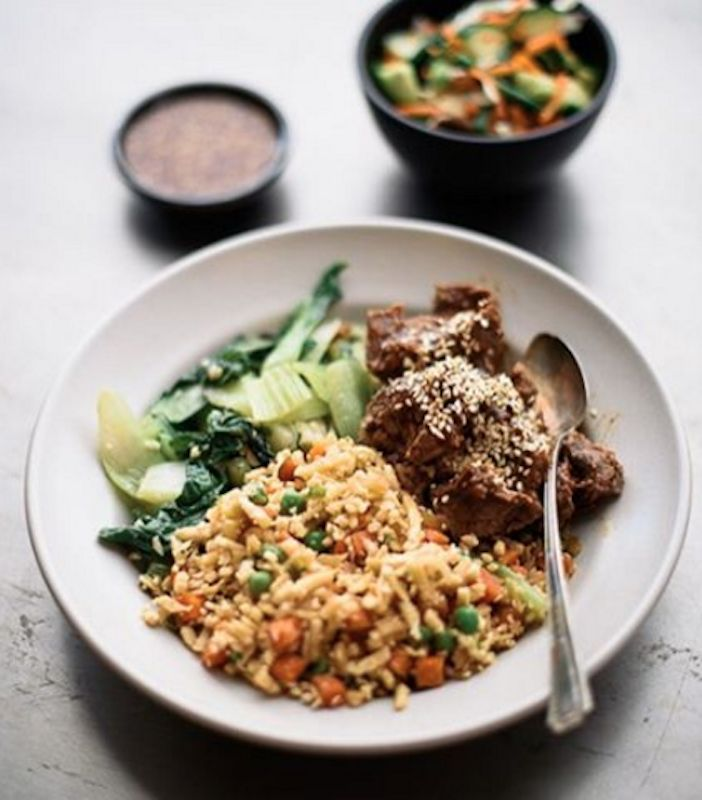 All home delivery meals out of Sprig, which skew healthy but not diet, are chef-prepared.