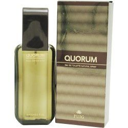 Quorum Cologne for Men 1.7 oz Eau De Toilette Spray by Antonio Puig. $20.61. QUORUM by Antonio Puig EDT SPRAY 1.7 OZ for MEN. Quorum Cologne for Men 1.7 oz Eau De Toilette Spray Antonio Puig, Quorum has created with a fragrance for real men. The spicy-woody harmony is really only on the skin of strong characters to bear. The composition combines the freshness of green notes with luxurious leather and exciting tart flavors reminiscent of tobacco Notes: bergamot, cumin, lemon. j...