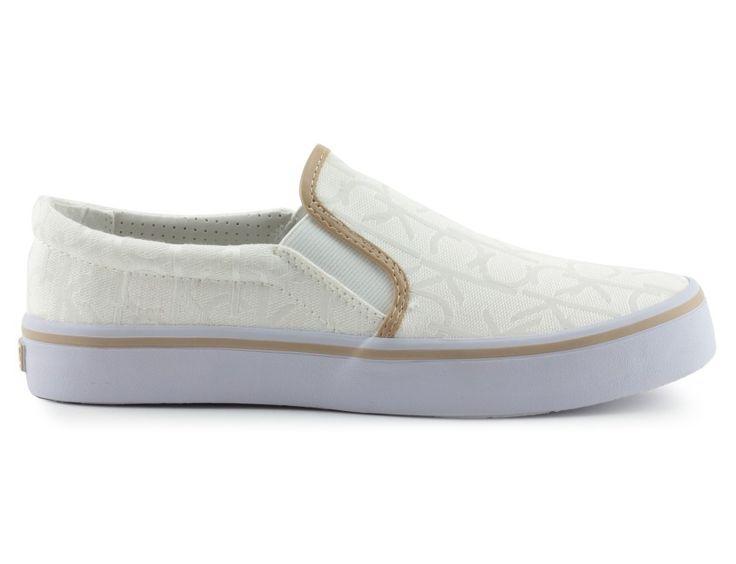 trampki calvin klein jeans re9598presley white/nat