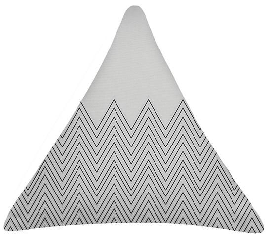 Grey Wave Triangle Cushion. 100% Organic Cotton and comes with a plush filler. Only $40 with Free Shipping! http://www.stoolsandchairs.com.au/Grey-wave-triangle-cushion/