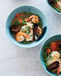 Red Coconut Curry with Seafood and Mixed Vegetables Recipe on Food & Wine