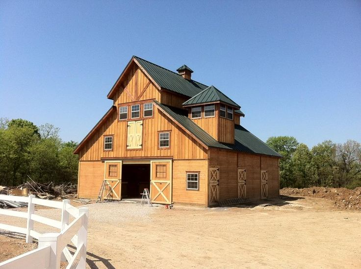 101 best images about barns on pinterest stables tack for Horse barn builders