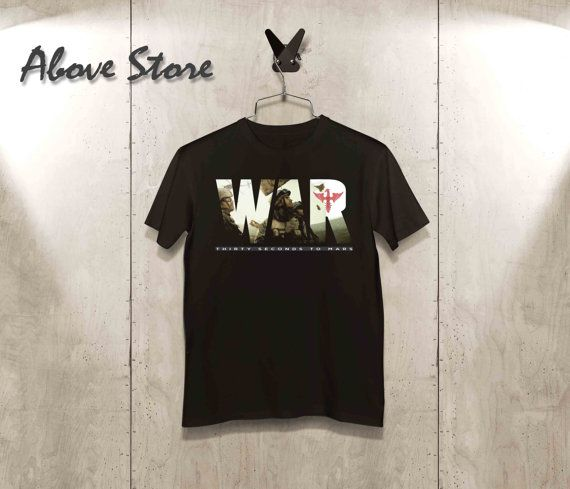 30 seconds to mars WAR t-shirt Mens tshirt womens tshirt White Crewneck Unisex Paris Swag Hipster T-Shirt