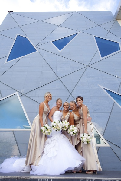 Beautiful bride and her bridesmaids www.touchedbyangels.com.au
