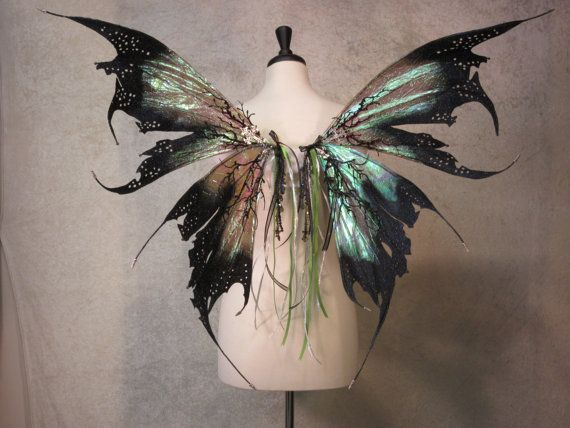 Ready to Ship  Iridescent Dark Fairy Absinthe by LadyOfTheOneRing