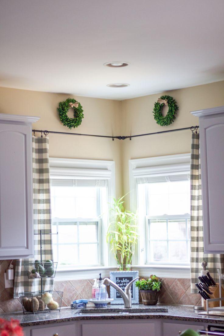 1000 ideas about kitchen window treatments on pinterest. Black Bedroom Furniture Sets. Home Design Ideas