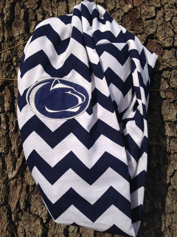 PSU Penn State Nittany Lions Chevron Infinity Scarf on Etsy, $20.00