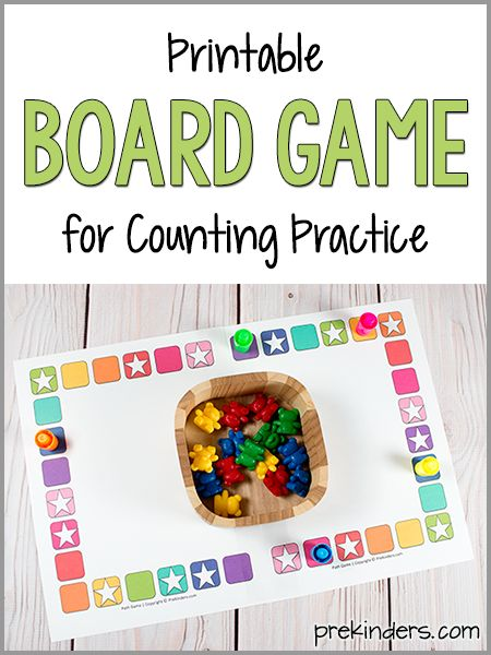 Printable Board Game for Counting Practice