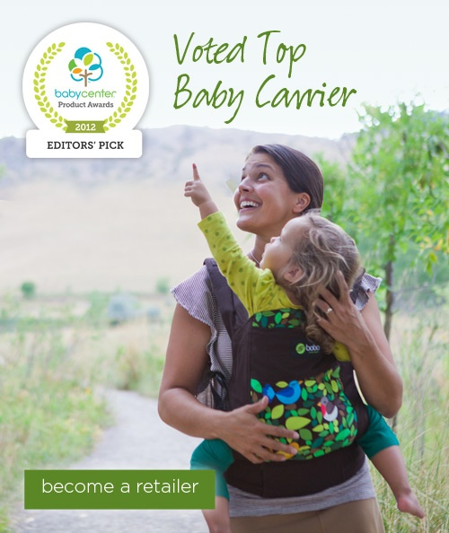 The Boba Carrier 3G is a soft structured baby carrier suitable for children 7-45lbs.