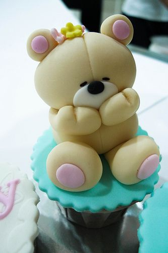 Forever Friends Blushing Bear Cupcake