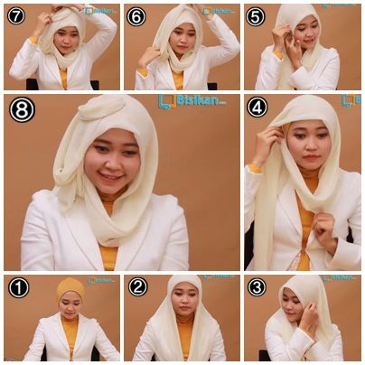 Tutorial Hijab Paris Untuk Wajah Bulat/Hijab Tutorial Square Scraft For Round Face