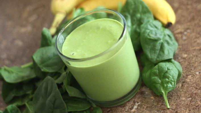 Groene spinazie smoothie