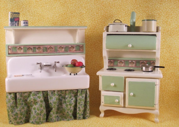 156 best dollhouse kitchens images on Pinterest | Miniature ...