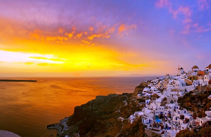 Santorini Island, Cyclades,Greece, Oia,  sunset, Amazing Greece, Удивительная Греция