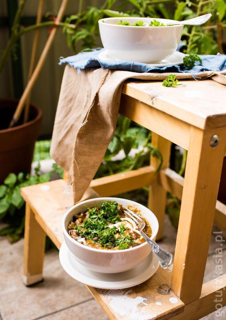 Gulasz grzybowo-drobiowy z dynią