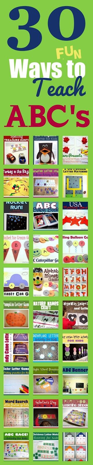 30 ABC Activities for Kids