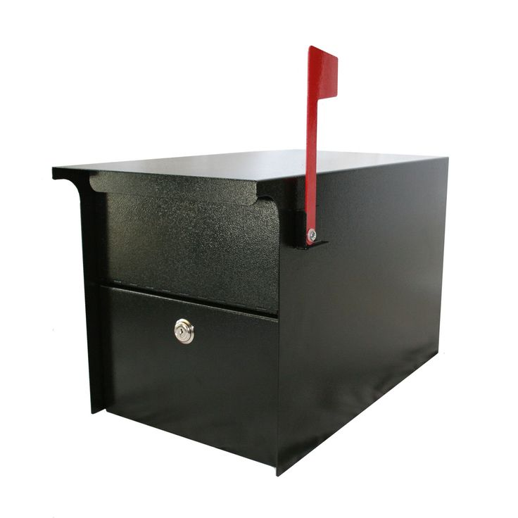 Post Mounted Mail Vault with Lock