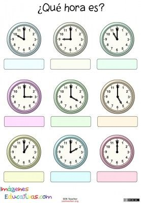 Trabaja las horas y los relojes  (2)