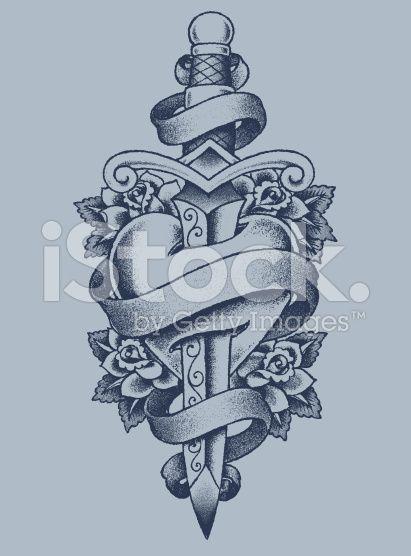 les 25 meilleures id es de la cat gorie tatouage de dague sur pinterest art traditionnel de. Black Bedroom Furniture Sets. Home Design Ideas