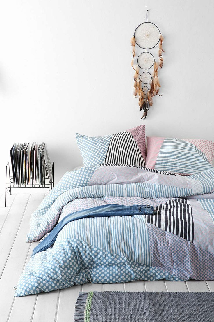 Cute bedding set, could go with the back pillow: Assembly Home Helmi Geo Comforter ....maybe a trip to the urban outfitter headquarters in NYC is needed? :)