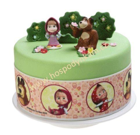 Prodáváme kvalitní suroviny pro zdobení dortů. Cukrová páska Máša a medvěd je určena k dozdobení obvodu dortu.