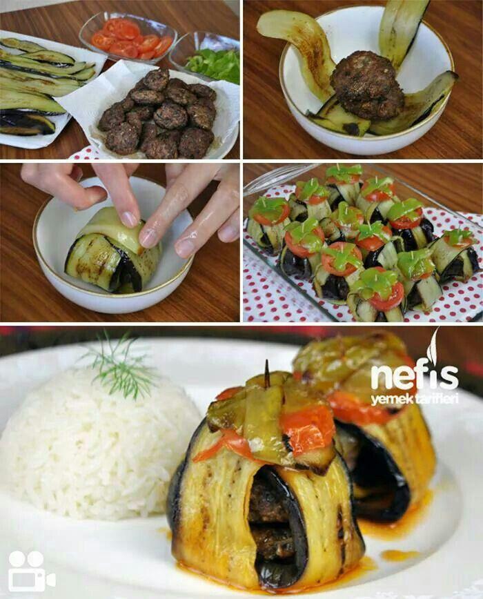 Köfteli patlıcan kebabı