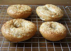vegan sesame bagels