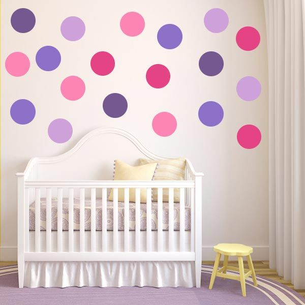 Best Polka Dot Wall Decals Images On Pinterest - Wall decals polka dots