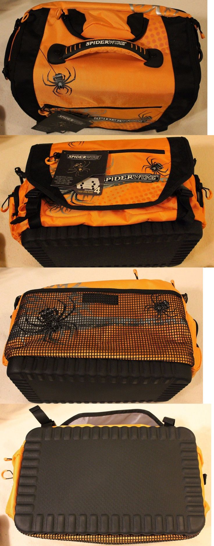Tackle Boxes and Bags 22696: Spiderwire Large Orange Tackle Bag Soft Sided - 4 Oganizers -> BUY IT NOW ONLY: $44.99 on eBay!