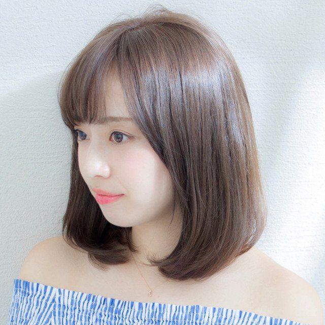 なりたい髪型別ヘアカタログ 芸能人風 丸顔カバー 最新ロングヘア