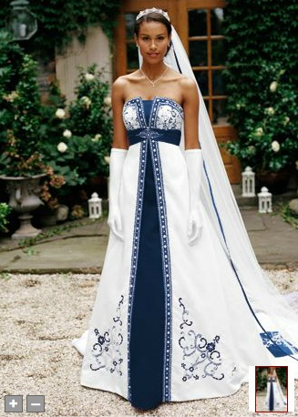 Dark Blue Wedding dress  @Sue Burleson - FOUND IT!!