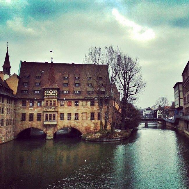 The medieval buildings of Nuremberg, Germany  #Nuremberg #Bavaria #travel