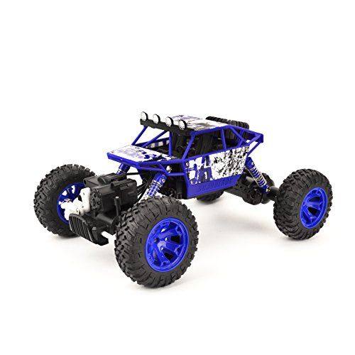 Coolmade RC Car Conqueror Electric RC Truck Rock Crawler 2.4Ghz 4 Wheel Drive 1:18 Racing Cars Climber Trucks Toy for Kids 4WD Extreme Crawler Off-Road RC Vehicle (2 Battery inside) – Blue In Stock - $27.99