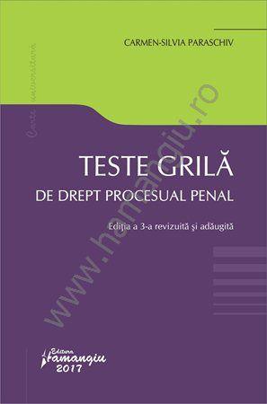 Teste grilă de drept procesual penal. Editia a 3-a