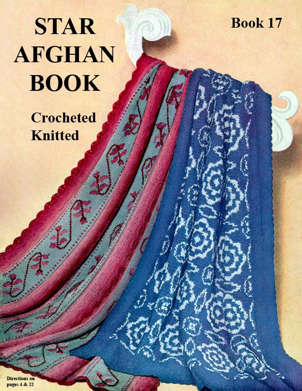 Star Afghan Book 17 Knitted Amp Crocheted American