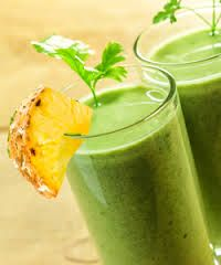 Juice therapy- #Kidney juice: Pineapple (#iron, #vitC , helps absorption of iron in your body), Celery, Hibiscus flower ( #diuretic ), honey, 1 branch parsley (kidney medicine)