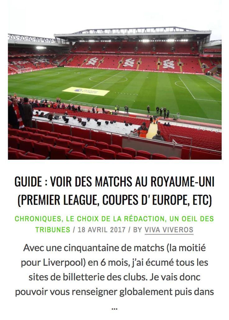 Guide: voir des matchs au Royaume-Uni (Premier League, Coupes d'Europe, etc…)