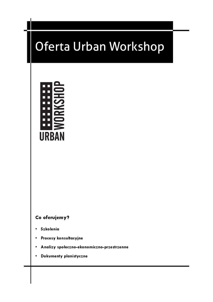 Oferta Urban Workshop