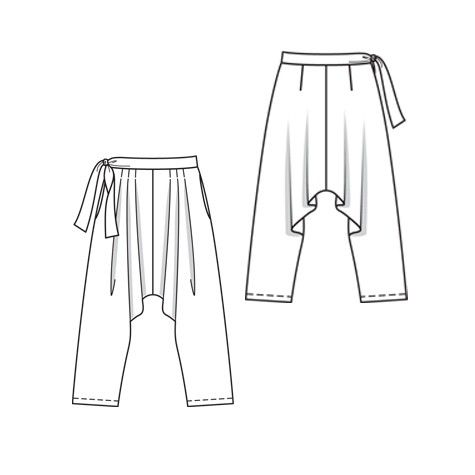 5/2010 Harem Trousers with side tie #115 - Women's Digital Patterns