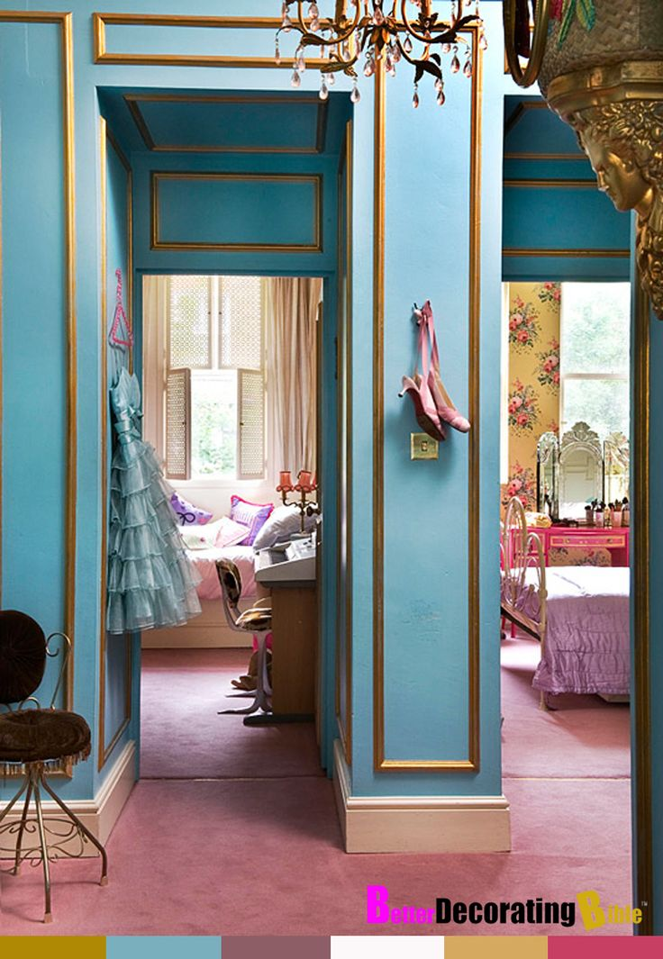 Modern French Regency: Marie Antoinette Style Apartment (it's like a Betsy Johnson dress)