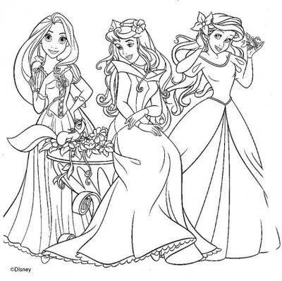 dibujo de princesas para colorear e imprimir