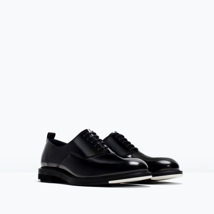 LEATHER LACE-UPS from Zara