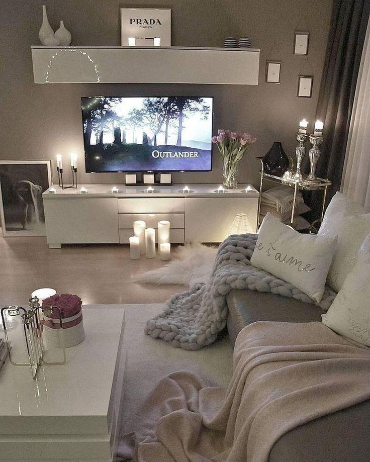 41 Erstaunliches kleines Apartment-Wohnzimmer